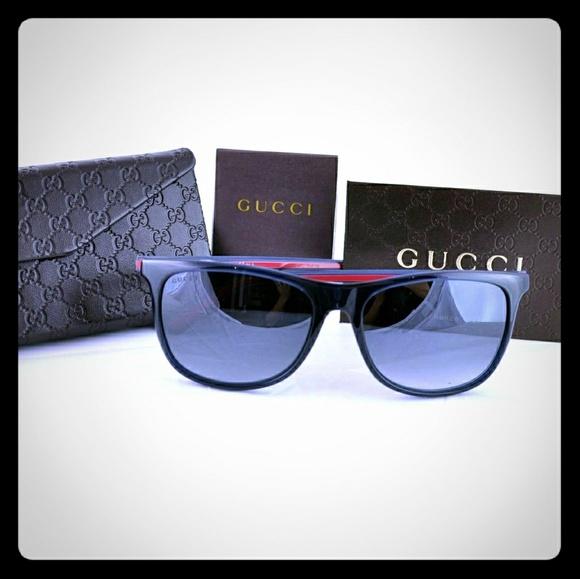 3a2c095bb9 Gucci Accessories - GUCCI Square Frame Acetate Signature Web Glasses